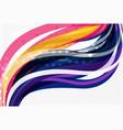 Elegant colorful wave stripes