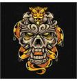emperor skull head mascot logo vector image