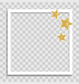 empty photo frame template with glossy star vector image
