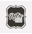 frame retro style icon isolated icon design vector image vector image