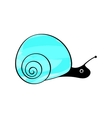 Funny snail animals mollusks vector image