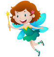 girl in fairy costume vector image vector image