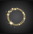 glitter gold circle frame with space for text vector image vector image