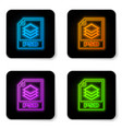 glowing neon psd file document icon download psd vector image vector image