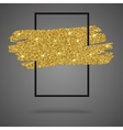 Gold sparkles glitter background with frame vector image vector image