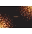 Golden Shimmer Glowing Square Particles vector image