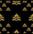 golden vintage damask decor seamless pattern vector image vector image