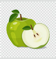 green apple icon isolated on white background vector image vector image
