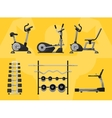 Gym isolated equipment icon vector image vector image