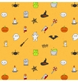Halloween flat pattern soft color vector image