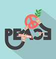 Hands With Peace Typography Design vector image vector image
