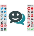 Happy Chat Icon vector image vector image