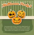 happy halloween festive poster vector image vector image
