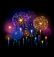 holiday festival colorful firework independence vector image vector image