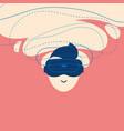 icon enthusiastic man using virtual reality vector image