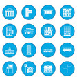 infrastructure set icon blue vector image vector image