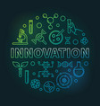 innovation genetics colorful linear round vector image