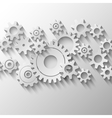 Integrated cogs and gears emblem vector image vector image