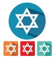 judaism star of david flat icon design vector image
