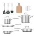 kitchen utensils realistic vector image vector image