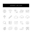line icons set internet pack vector image