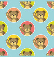 little bears seamless pattern vector image