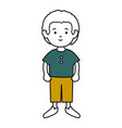 little boy avatar character vector image
