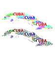 map of cuba vector image vector image