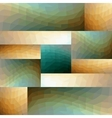 Modern abstract tile composed of mirror arranged vector image vector image
