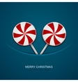 modern christmas candy on blue background vector image vector image