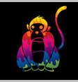 monkey cartoon graphic vector image vector image