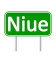 Niue road sign vector image vector image