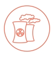 Nuclear power plant line icon vector image