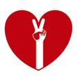 peace hand symbol vector image