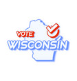presidential vote in wisconsin usa 2020 state vector image vector image