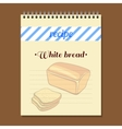 Recipe Book White Bread vector image vector image