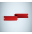 red textured ribbon vector image vector image