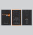 restaurant menu flyer template vector image vector image
