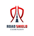 road shield logo design vector image vector image
