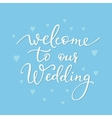 Romantic Wedding simple lettering decor vector image