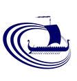 Sailing ship 10 vector image vector image