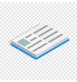 school book isometric icon vector image vector image