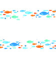 school fish watercolor hand painting border vector image vector image