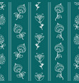 seamless pattern with hand-drawn fantasy flowers vector image vector image