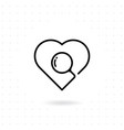 searching a love icon vector image vector image