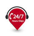 service 24 hour and 7 day icon 24 hour vector image vector image