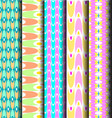 set geometric pastel pattern vector image
