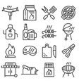 set of barbecue related line icons vector image vector image