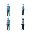 Set of isometric policemen vector image vector image