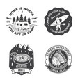 set summer camp canoe and kayak club badge vector image